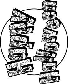 Crayola Halloween Coloring Pages New Halloween Sign Of Spider Webs Halloween Bingo, Halloween Frames, Fun Halloween Crafts, Halloween Banner, Halloween Activities, Happy Halloween, Halloween Dishes, Halloween Ideas, Free Halloween Coloring Pages