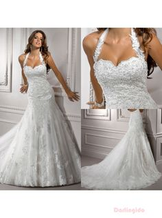 Sexy Wedding Dresses | Sexy Mermaid Wedding Dresses Sexy Luxury Detachable Halter Full Lace ...