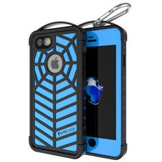 iPhone 7+ Plus Waterproof Case, Punkcase [WEBSTER Series] Heavy Duty Armor Cover [Slim Fit] [IP68-Certified] [Shockproof][Snowproof] W/Attached Screen Protector for Apple iPhone 7+ Plus [LIGHT BLUE]      ★ PUNKCASE iPhone 7+ Plus CASE [WEBSTER SERIES]: Your punk mate that will punkproof your Apple iPhone 7+ Plus against punk forces of nature.
