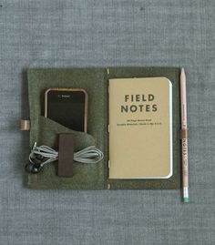 Wool Felt Notebook / Passport Wrap.  Made in New York.  Kai D.
