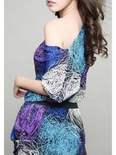 Galaxy Ice Silk Mini Dress