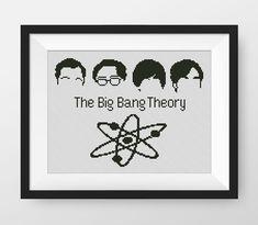 The Big Bang Theory Cross Stitch Pattern, PDF counted cross stitch pattern, P138 by NataliNeedlework on Etsy