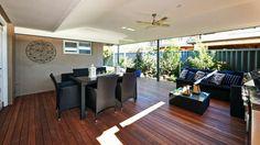 Love this idea of a covered deck - fantastic for entertaining! Outdoor Rooms, Outdoor Living, Outdoor Decor, Exterior Design, Interior And Exterior, House Rules, Home Reno, Decks, Garden Ideas