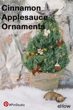 Deck your halls with aromatic cinnamon ornaments this Christmas! Get the DIY instructions here: http://www.ehow.com/how_4602885_applesauce-christmas-ornaments.html Get creative on Pinterest with eHow. For more: pinterest.com/ehow.