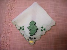 Vintage Eire Ireland Souvenir Handkerchief NOS with tag by LeapofFaithCraftVin on Etsy