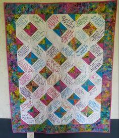 signature quilt | Quilt Ideas : AccuQuilt