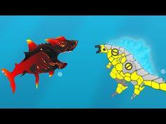 Evolution of Shark Attack vs Godzilla Earth: Size Comparison Earth Games, Godzilla Birthday Party, Godzilla Tattoo, Godzilla Toys, Godzilla Wallpaper, Illustrations Posters, Evolution, Shark, Drawings