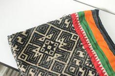 RARE VINTAGE 19th.c Homespun Tai hmong Rug Throw Cotton Hand Woven Fabric Aztec Textile Ethnic A Piece Of Tradition Costume Indigo