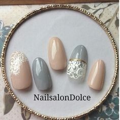 かわいいネイルを見つけたよ♪ #nailbook Animal Nail Art, Lace Nails, Japanese Nails, Stamping Nail Art, Manicure E Pedicure, Bridal Nails, Hot Nails, Gel Nail Designs, Fabulous Nails