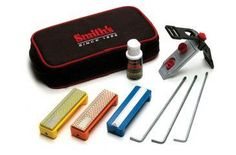The Smith's Diamond Precision Knife Sharpening System DPSKP has all the tools you'll need to keep a perfect edge on all of your favorite knives. This Knife Sharpener Kit from Smith's offers an easy way to sharpen all types of knives, including serrated. The fabric storage pouch makes the Smith's Precision Diamond Knife Sharpening Kit portable and easy to store, and the 1-inch wide stones makes sharpening safe, fast, and easy.