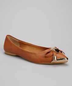 Take a look at this Camel Metal-Cap Flat by Shully's on #zulily today!