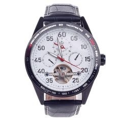 ORKINA Men's Wrist Watch Black +White