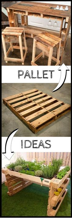 200 Ways To Recycle Wooden Pallets Great for The Home Great Resellers Watch The Video For All These Furniture Ideas: vid.staged.com\/L4Qs