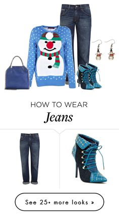"""Snowman Sweater"" by sjlew on Polyvore featuring dVb Victoria Beckham, STELLA McCARTNEY, London Trash and Ganz"