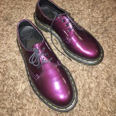 3cbe25945ec Martens size Flats   Loafers at a discounted price at Poshmark.  Description  Dr martens purple patent leather Oxford shoes is Sold by  themunster.