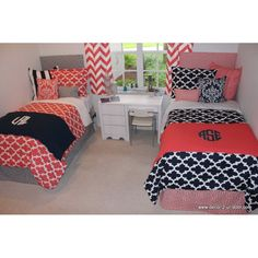Design Your Own Bed Scarf | Custom Teen Girl & Dorm Room Designer Bedding & Decor. Monogram bed scarf. Available in all bed sizes, Choose from 1,000's of designer fabrics. The options are endless!! Design you own bedding set.