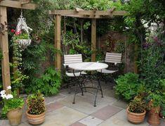Clic para ampliar Courtyard Landscaping, Small Courtyard Gardens, Small Courtyards, Small Backyard Gardens, Garden Spaces, Small Gardens, Garden Beds, Landscaping Ideas, Balcony Garden
