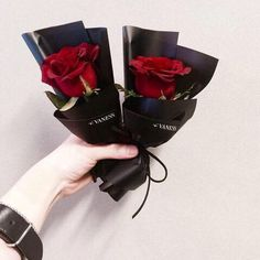 flowers, red, and rose image How To Wrap Flowers, My Flower, Fresh Flowers, Beautiful Flowers, Bouquet Wrap, Flower Packaging, Luxury Flowers, Flower Aesthetic, Arte Floral