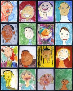 portraits - a self portrait what a great idea for kiddos to do each year