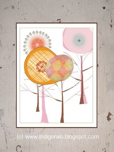 Modern Paper Forest - 11X14 - Trees Wall Art for Toddler's Room, Nursery Decor and Children Rooms by Indigo Rain. $18.00, via Etsy.
