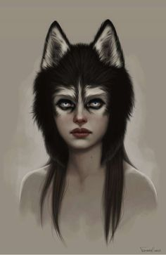 """Isabel Arena (this would make an awesome Halloween costume idea...animal """"hat"""" finished off with eye makeup!)"""