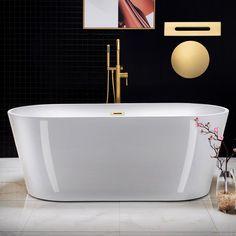 Wet Room Bathroom, Bathroom Interior, Master Bathroom, Bathroom Ideas, Bathroom Designs, Bathroom Inspiration, Stand Alone Tub, Small Tub, Shower Drain