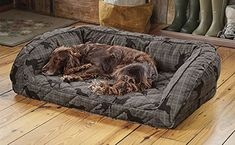 """Orvis Memory Foam Bolster Dog Bed / X-large Dogs Up To 90-120 Lbs. Multiple Dogs., Gray Lab Plaid, The Orvis Memory Foam Bolster may look like our incredibly popular Deep Dish Dog Bed, but the similarities end there. Underneath the plush microfiber cover is a 4""""-thick cushion of supportive memory foam designed specifically for dogs. Memory foam not only supports dog joints and muscles, but also helps maintain https://pets.boutiquecloset.com/product/orvis-memory-foam-bolster-d"""