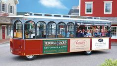 Need to get around Kennebunkport? Hop aboard the Intown Trolley Tour! My favorite thing to do there! Bangor Maine, Kennebunkport Maine, Stuff To Do, Things To Do, Vacation Destinations, Vacation Ideas, Vacations, Travel Channel, Travel Essentials