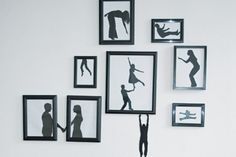 Pared con Paper art silhouette