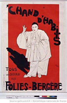 Chand d'habits, tous les soirs aux Folies-Bergère (Lucien Guitry) : [affiche] / [Pal] - 1