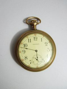 Vintage Pocket Watch Open Face Waltham running by FairSails, $128.00