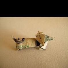 Origami weiner dog!!