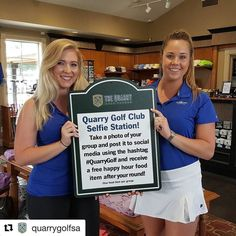 #Repost @quarrygolfsa  Selfie Stations are coming to The Quarry!  These Selfie Station signs are going in on the tee boxes on 8 and 17.  Take a selfie with your foursome on either of those holes and post to social media using the hashtag #QuarryGolf and get a free appetizer in our restaurant!
