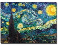 "Vincent Van Gogh Starry Night 18x24"""