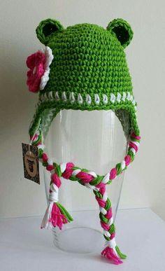 Gorro ranita crochet para bebe Tutitas Tejedoras