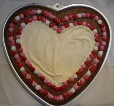 Heart Brownie with Cream Cheese Frosting
