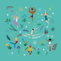 Lets Dance! -square card