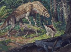 Postosuchus in pursuit by Jordan K. Walker