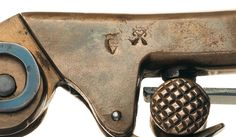 Brass Knuckles, Percussion, Firearms, Hand Guns, Studs, Brown, Rifles, Wwi, Antique