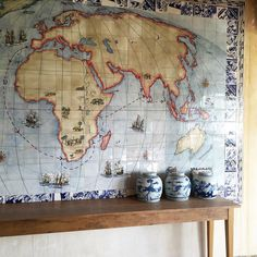 """Safari Fusion on Instagram: """"Tile map, Paarl South Africa. #decorate #africanart #map #tiles #safaristyle #winelands #paarl #southafrica #spiceroutepaarl #africanmap"""""""