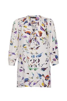 Bird print blouse    Available at www.wondaland.co.uk