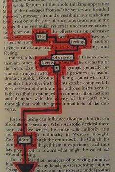 """""""Found Poetry""""  {Using words from pages of text to discover a poem within.}"""