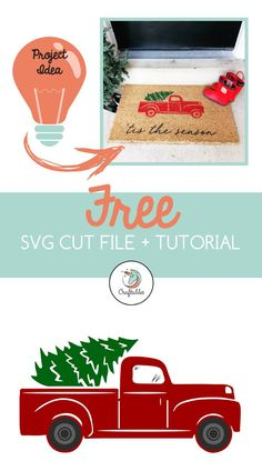 This free Christmas Truck SVG cut file is compatible with the Cricut, Silhouette… – DIY Crafts Christmas Truck, Christmas Svg, Christmas Projects, Christmas Printables, Winter Christmas, Xmas, How To Use Cricut, Cricut Tutorials, Cricut Ideas