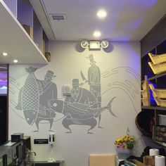 restaurant mural ideas - Google Search