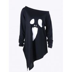 SHARE & Get it FREE | Halloween Plus Size Skew Neck Asymmetric Graphic SweatshirtFor Fashion Lovers only:80,000+ Items·FREE SHIPPING Join Dresslily: Get YOUR $50 NOW!