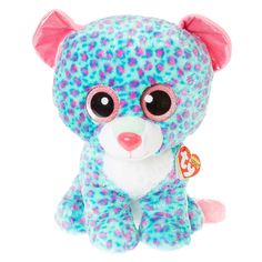 deea8534682 Claires   TY Beanie Boo Large Sydney the Leopard Plush Toy