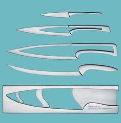 Deglon 8250000 MEETING - Set di 4 coltelli da cucina salvaspazio, incastrati l'uno nell'altro, in acciaio INOX ad alta qualità, colore: Naturale INOX