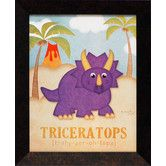 Found it at Wayfair - Artistic Reflections Triceratops Framed Art