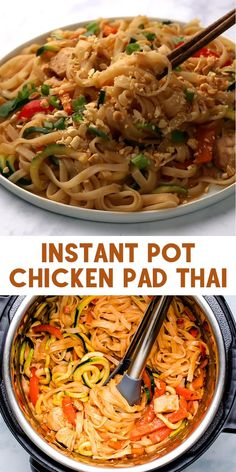 Instant Pot Pasta Recipe, Best Instant Pot Recipe, Instant Recipes, Instant Pot Dinner Recipes, Healthy Dinner Recipes, Vegetarian Recipes, Cooking Recipes, Thai Food Recipes Easy, Easy Instapot Recipes
