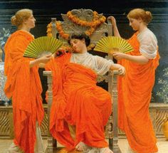 "Albert Moore    ""Midsummer"" - 1887 Nicole when pregnant in hottest summer ever!!!!"